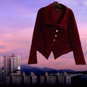 Lane Bryant Jackets & Coats - Asymmetrical corduroy blazer by Lane Bryant